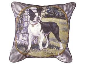 "Boston Terrier Decorative Dog Animal Throw Pillow 17"" x 17"""