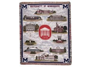 "University of Mississippi Rebels Tapestry Throw Blanket 50"" x 70"""