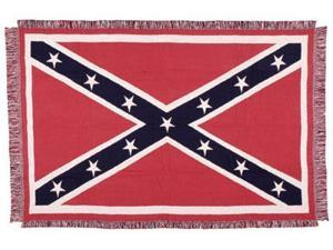 """United States Confederate Flag Three-Layer Woven Afghan Throw Blanket 50"""" x 70"""""""