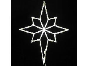 "18"" Lighted LED Star of Bethlehem Christmas Window Silhouette Decoration"