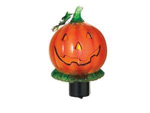 "5.25"" Smiling Jack-O-Lantern Pumpkin Flickering Halloween Night Light"
