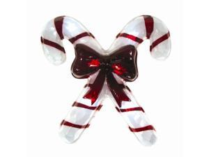 Peppermint Twist B/O Red & White Striped Candy Cane Christmas Window Decoration