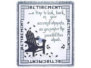 "Retirement A Gift To Remember Retiring Goodbye Afghan Throw 48"" x 60"""