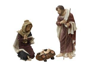 "34"" Large 3-Piece Outdoor Holy Family Nativity Christmas Yard Art Statue Set"