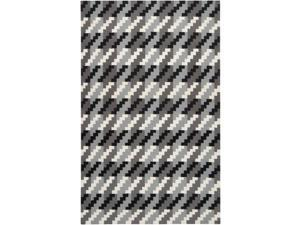 9' x 13' Pixel Polarity Rain Black, White and Gray Reversible Hand Woven Wool Area Throw Rug