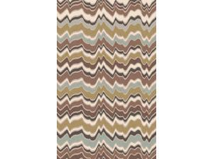 9' x 13' Robust Vibrations Cuban Sand and Sage Green Hand Tufted New Zealand Wool Area Throw Rug