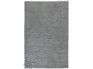 5' x 8' Farfalla Fantasia 3-Dimensional Slate Gray Butterfly Hand Woven Wool Area Throw Rug
