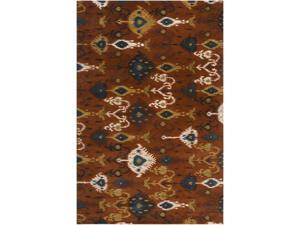 9' x 13' Rhythmic Expression Amber and Curry Wool Area Throw Rug