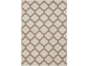 5.25' x 7.5' Moroccan Gateway Taupe Brown and Beige Area Throw Rug