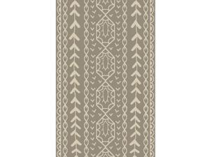 8' x 11' Lantern Garden Espresso Brown and Eggshell White Hand Knotted Area Throw Rug