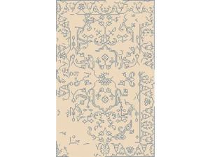 8' x 11' Magic Marvel White and Light Blue Hand-Knotted Area Throw Rug