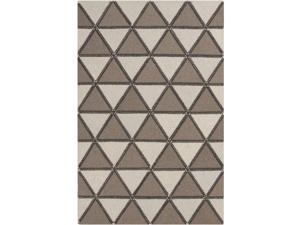 8' x 10' Umbra Native Chocolate Brown and Eggshell White Hand Crafted Wool Area Throw Rug