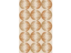8' x 11' Spherical Illusions Coffee Brown and Rust Area Throw Rug