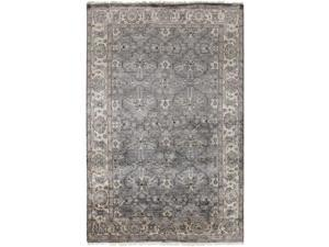 6' x 9' Byzantine Empress Taupe Gray, Pewter and Light Gray Area Throw Rug