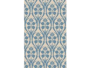 9' x 13' Preciosa Sandy Brown, Sapphire and Sky Blue Hand Hooked Wool Area Throw Rug