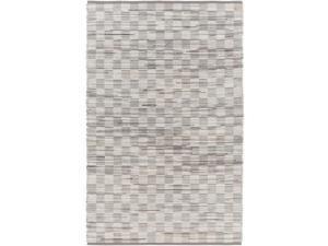 8' x 10' Double Jump King Heather Gray and Ivory White Area Throw Rug