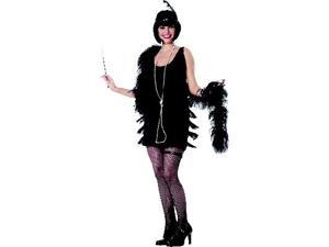 Fashion Flapper (Black) Adult Costume
