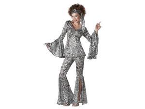 Womens Retro 70'S Disco Foxy Lady Adult Hippie Halloween Costume Outfit