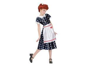 I Love Lucy Polka Dot Dress Child Costume Medium