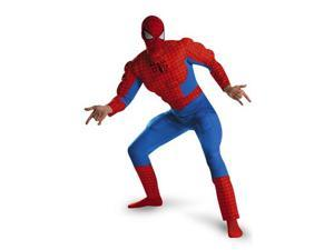 Mens Deluxe Muscle Spider Man Costume