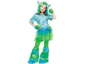 Monster Miss Toddler Costume Size:3T-4T