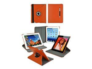 Apple iPad 3 Premium 360-degree Folding Stand Case with FREE screen protector, 6-pc set button stickers, iPad stylus ballpoint ...