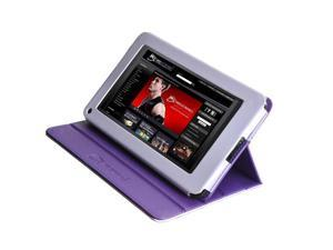 MEElectronics Premium Portfolio Leatherette Stand Case for Amazon Kindle Fire (Purple)
