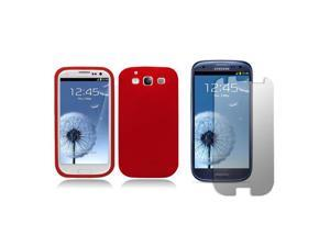 Premium Silicone Case for the Samsung Galaxy S III (I9300) (At&t, T-mobile, Sprint, Verizon) Silicone Case with Screen Protector