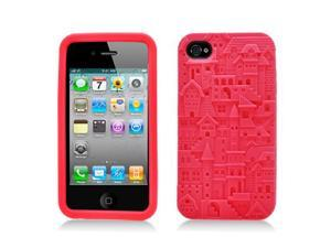 Apple iPhone 4/4S Castle Design Silicone Skin Case with FREE Screen Protector