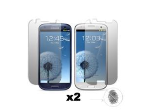 Samsung Galaxy S III (i9300) Anti-Glare / Anti-Finger Print Screen Protector (Pack of 2)