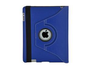 Premium Apple iPad 3 (iPad with Retina display) Leatherette Folding Stand Case 360 degree rotated with iPad stylus ballpoint ...
