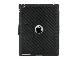 Apple iPad 2 Premium Carbon Fiber Hybrid Stand Case (Black) with FREE Screen Protector by Yepo