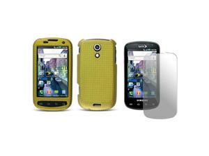 Samsung Epic 4G Fabric Designer Case with Screen Protector  (Gold) - OEM