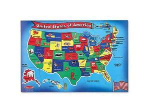 Melissa & Doug : United States Map Floor Puzzle (51 Pcs)
