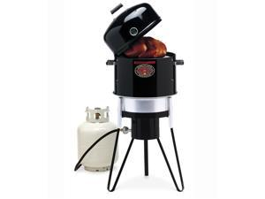 All-In-One w Gas Water Smoker, Gas Grill, Charcoal Water Smoker & Charcoal Grill