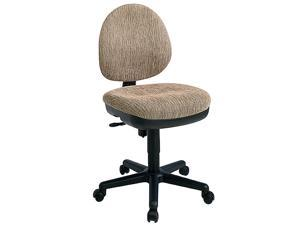 Contemporary Swivel Chair w Flex Back & Casters (Ink Blue in Interlink Pattern)