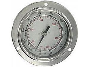 "BTPM240101 Panel mount bimetal stem thermometer, range 0 to 200DegF, 4"" stem."