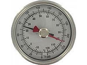 "BTM3408D Maximum/minimum bimetal thermometer, range 150 to 750DegF, 4"" stem."