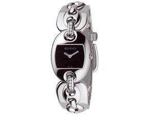 Gucci Ladies Marina Black Dial Watch YA121505