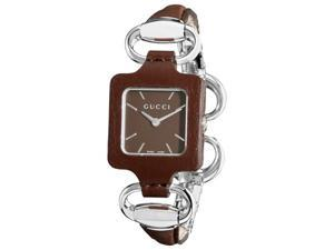 Gucci Leather Brown Dial Women's Watch #YA130403