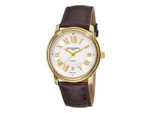Frederique Constant Persuasion Heart Beat Date Mens Gold Plated Watch FC-303NM4P5
