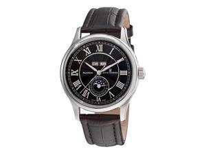 Revue Thommen Moonphase Mens Black Face Full Calendar Watch 16066.2537