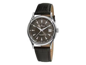 Revue Thommen Wallstreet Mens Dark Grey Face Black Leather Strap Watch 20002.2534