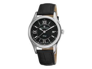 Revue Thommen Heritage Mens Black Leather Strap Automatic Watch 21012.2537