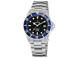 Grovana Mens Diver Black Dial Blue Bezel Automatic Watch