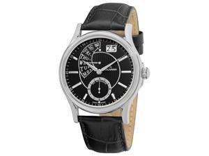 Grovana Mens Black Retrograde Dial Quartz Watch