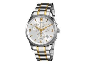 Victorinox Swiss Army Classic Alliance Mens Two Tone Chronograph Watch 241481