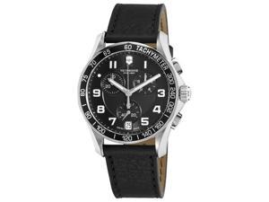Victorinox Swiss Army Chrono Classic Mens Leather Strap Chronograph Watch 241493