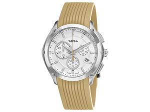Ebel Mens Classic Sport Sand Rubber Strap Chronograph Watch