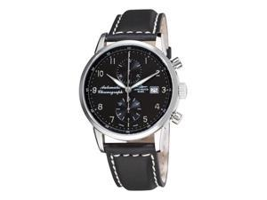 Zeno Magellano Mens Black Strap Automatic Chronograph Watch 6069BVD-C1